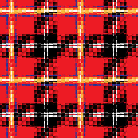 plaid pattern: Red plaid pattern. Vector seamless background
