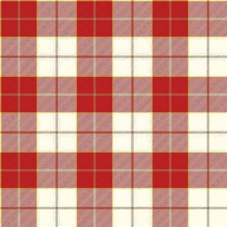 Red tartan naadloos patroon Stock Illustratie