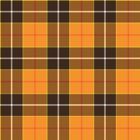orange pattern: Tartan orange pattern. Seamless background in warm autumn color. Illustration