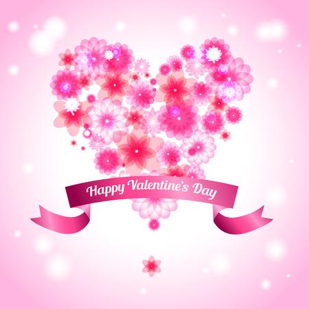 valentin: Valentin day card. Vector illustration
