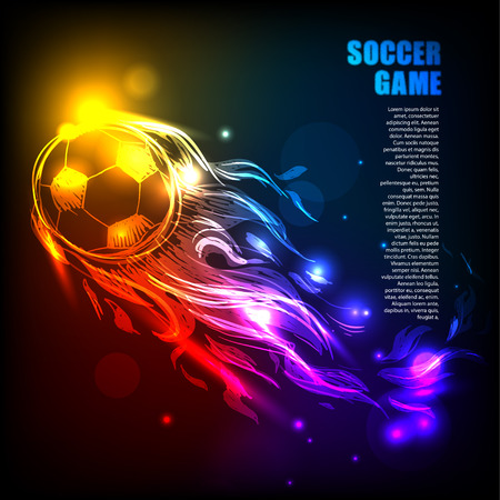 kickoff: Bright background with ball Illustration