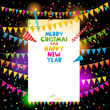 christmas party background: Christmas party background with place for text Illustration