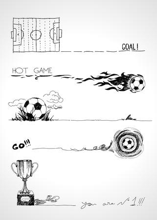 kickoff: Football sketch banners