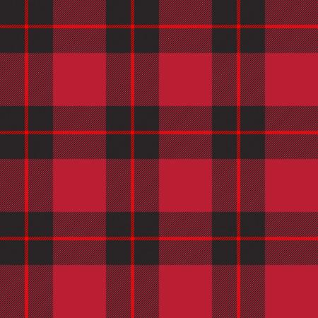 Tela escocesa de tartán rojo sin fisuras patrón