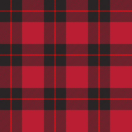 Red tartan plaid seamless pattern