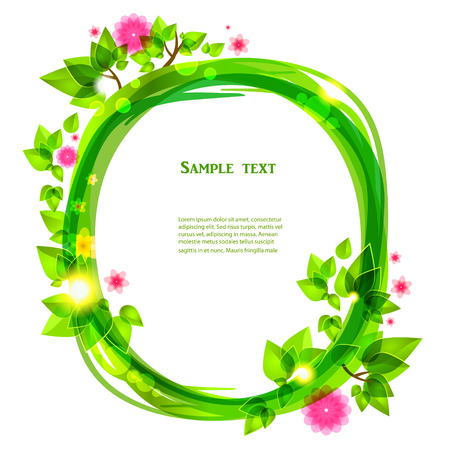 saturate: Spring floral frame with place for text