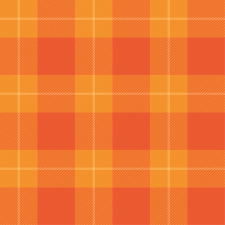 autumn color: Orange tartan pattern. Seamless background in warm autumn color.
