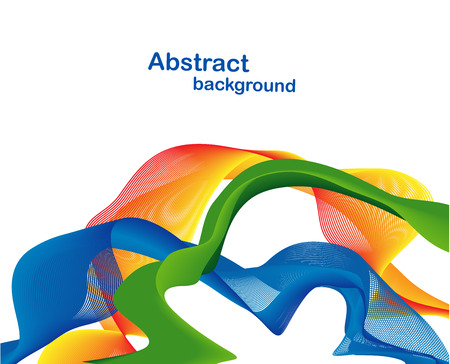 green technology: Abstract colorful backdrop. Yellow, blue green orange ribbon