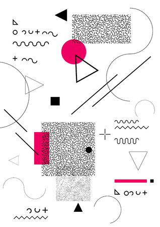 backdrop: Abstract geometric backdrop Illustration