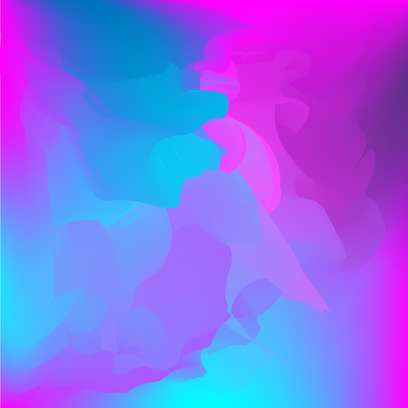Neon holographic colorful vector background. Abstract soft pastel colors backdrop. In violet, blue and dark blue colors.