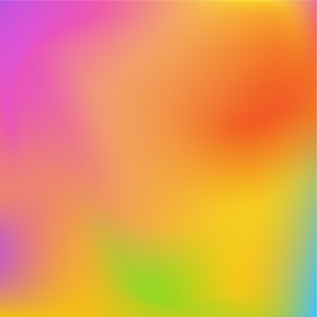 Neon holographic colorful vector background. Abstract soft pastel colors backdrop. In pink, orange, yellow and green colors.
