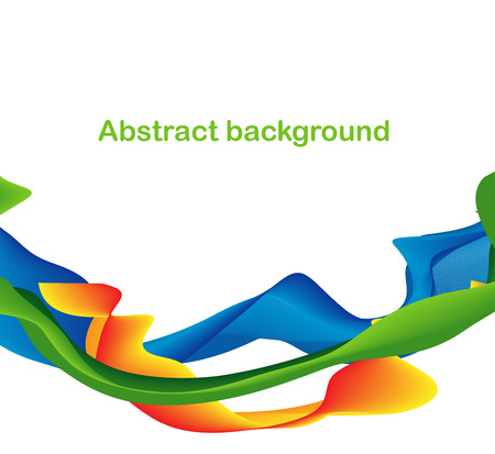 Abstract colorful shapes and lines background design. Blue, yellow, green orange ribbon Ilustrace