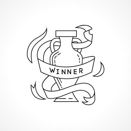 Winner world cup. World championship. Europe championship Stock Illustratie