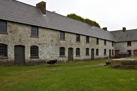 iron works: Preserved industrial houses at museum at Blaenavon Iron Works in Wales Editorial