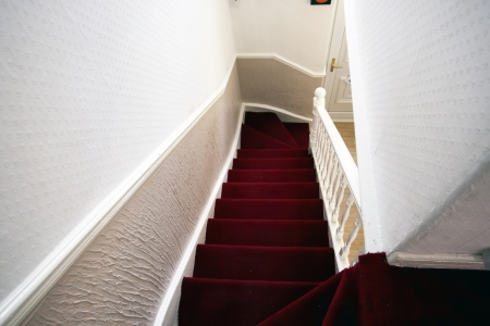 View from the landing in a traditional terraced house
