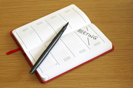 booked: Day booked out for meeting in generic diary