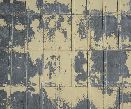 tin: weathered tin siding Stock Photo