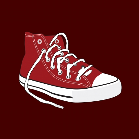 shoe, A pair of old sneakers Vector