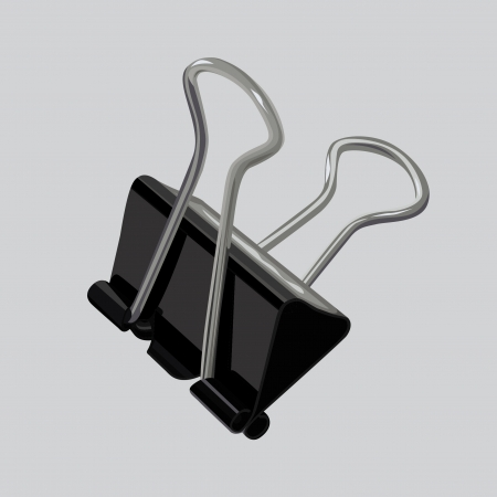 binder clip: binder clip Illustration