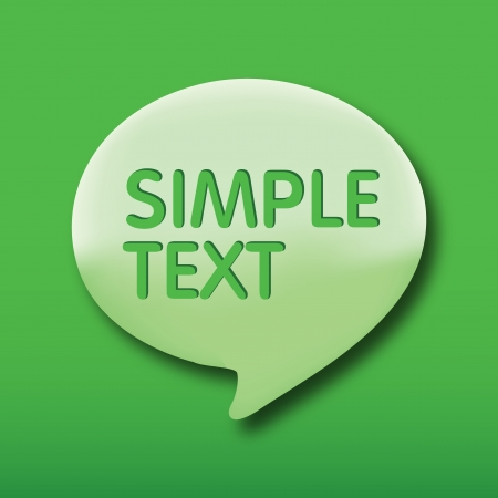 talk bubble, Green speech bubles on Green background   Vector