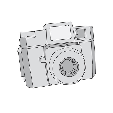 Hand Drawn of Camera Vector