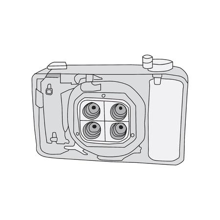 Hand Drawn of Camera Illustration