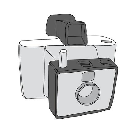 Hand Drawn of Vector Camera