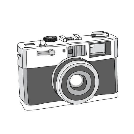 Hand Drawn van Vector Camera Stock Illustratie