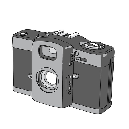 Hand Drawn of Vector Camera Vector