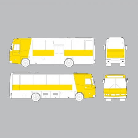 motor coach: City Bus Illustration