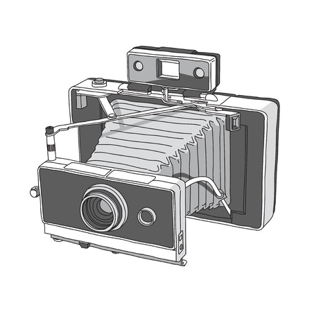 Hand Drawn of Vector Camera