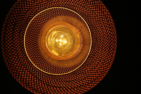 modern lamp with details on the filament light bulb Stock Photo