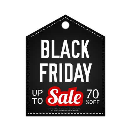 Black Friday sale. Vector design template. Black friday banner. Sale stickers. Discount advertising marketing. Ilustrace