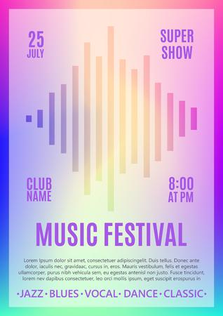 Festival poster Template. Vector illustration