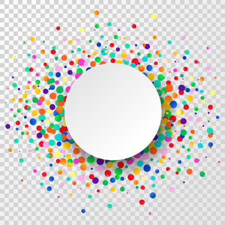 Confetti circle background. Party background. Vector illustration