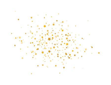 Golden stars composition on white background. Glitter elegant design elements. Gold shooting stars. Magic decoration. Christmas texture. Vector illustration. Vectores