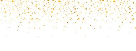 Golden stars frame on long banner. Celebration banner. Gold shooting stars. Glitter elegant design elements. Magic decoration. Christmas texture. Vector illustration 版權商用圖片 - 162988185
