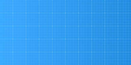 Blueprint grid background. Project blank. Architecture texture. Technical concept. Paper metric template. Math pattern. Geometric guides. Vector illustration 向量圖像