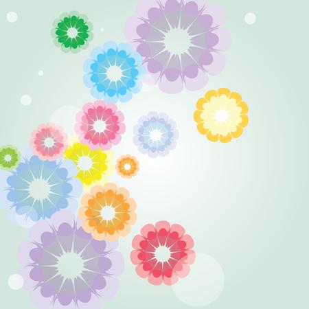Colorful corn kernel shape flower design. Иллюстрация