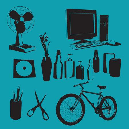 Vector household items Иллюстрация