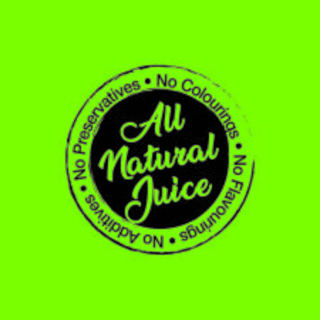 all natural fresh juice stamp seal label print