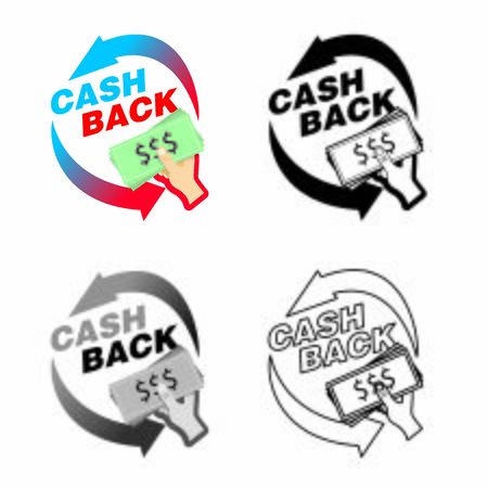cash back refund icon. Bank Symbol design for payment icon