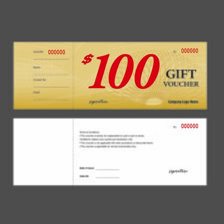 Gift Voucher easy print premium coupon template design front back printing