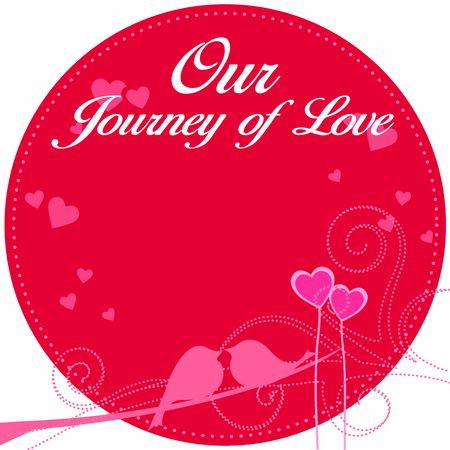 Our Journey of love. Vector illustration for Valentine's day greeting cards, print Иллюстрация