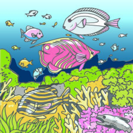 colorful underwater seaworld vector illustration Иллюстрация