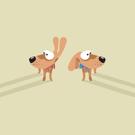 perros graciosos: Perros divertidos de dibujos animados
