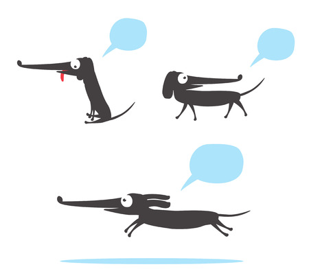 sausage dog: Dachshund - Sausage dog cartoon
