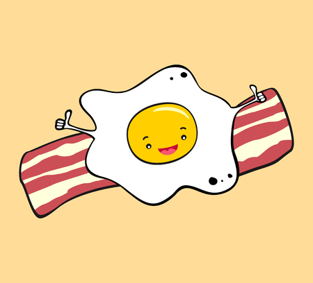 fried: Fried egg and bacon breakfast