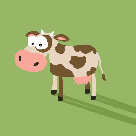 silly face: Funny cartoon cow with silly face expression Stock Photo