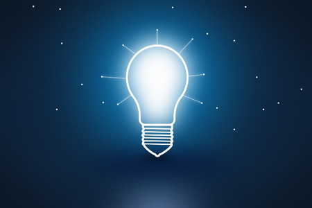 Conceptual light bulb symbolizing ideas and creativity